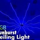 RGB Sunburst Ceiling Light