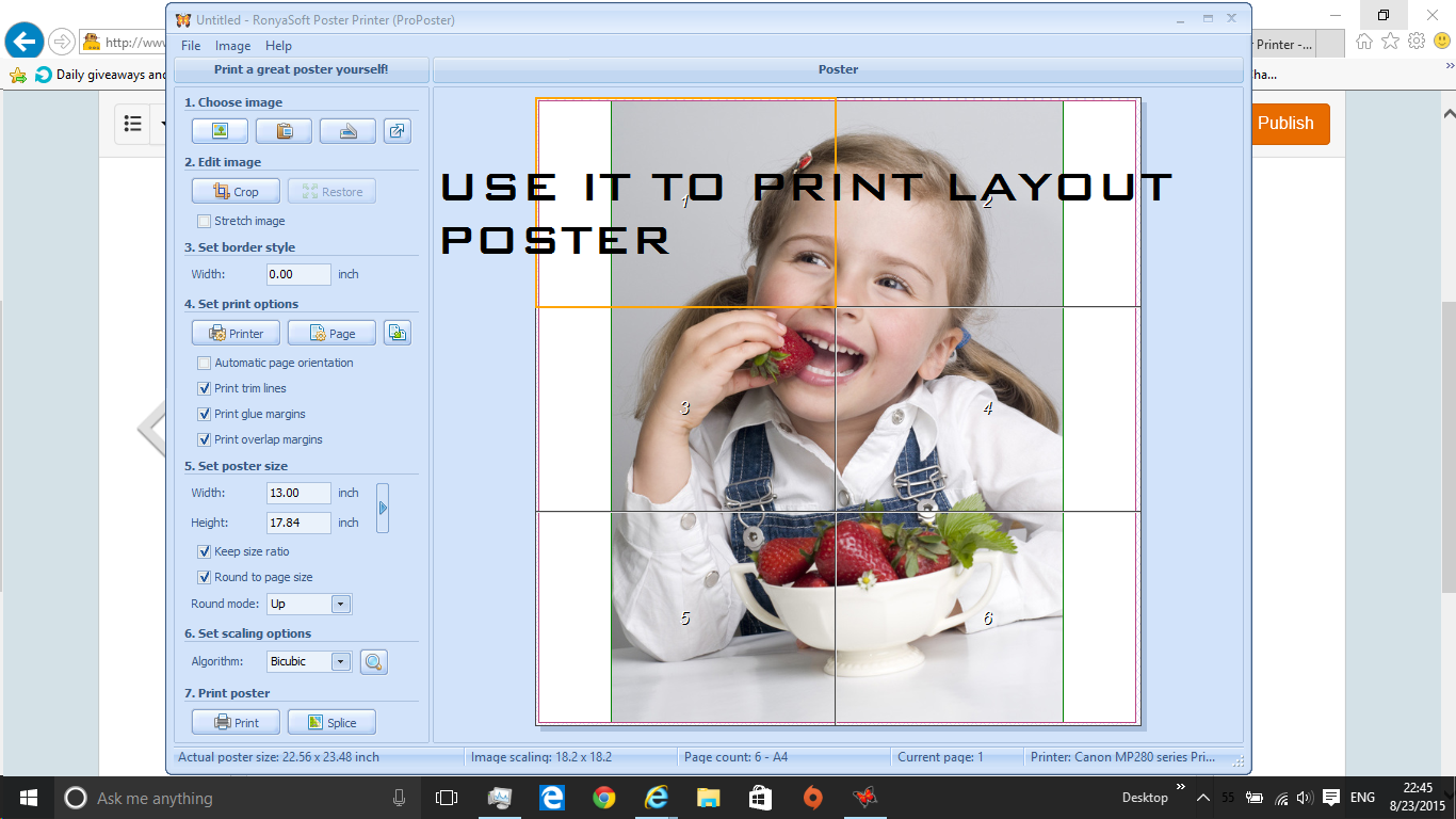 Picture of Creating Sample Poster
