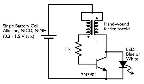 joule thief for me   4 steps