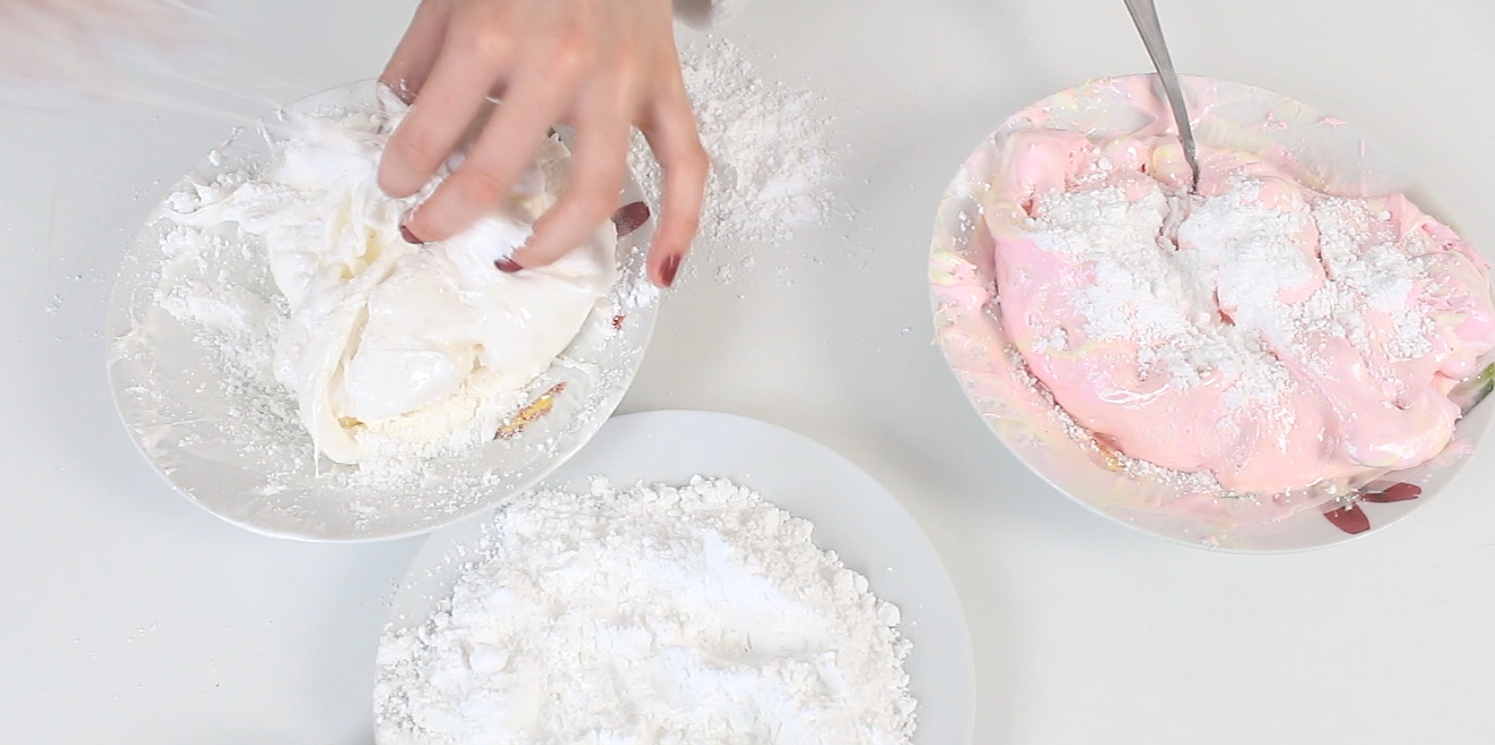 Picture of You'll Never Believe What This  Macarons Is Made of Marshmallows Pink - White and Powdered Sugar!