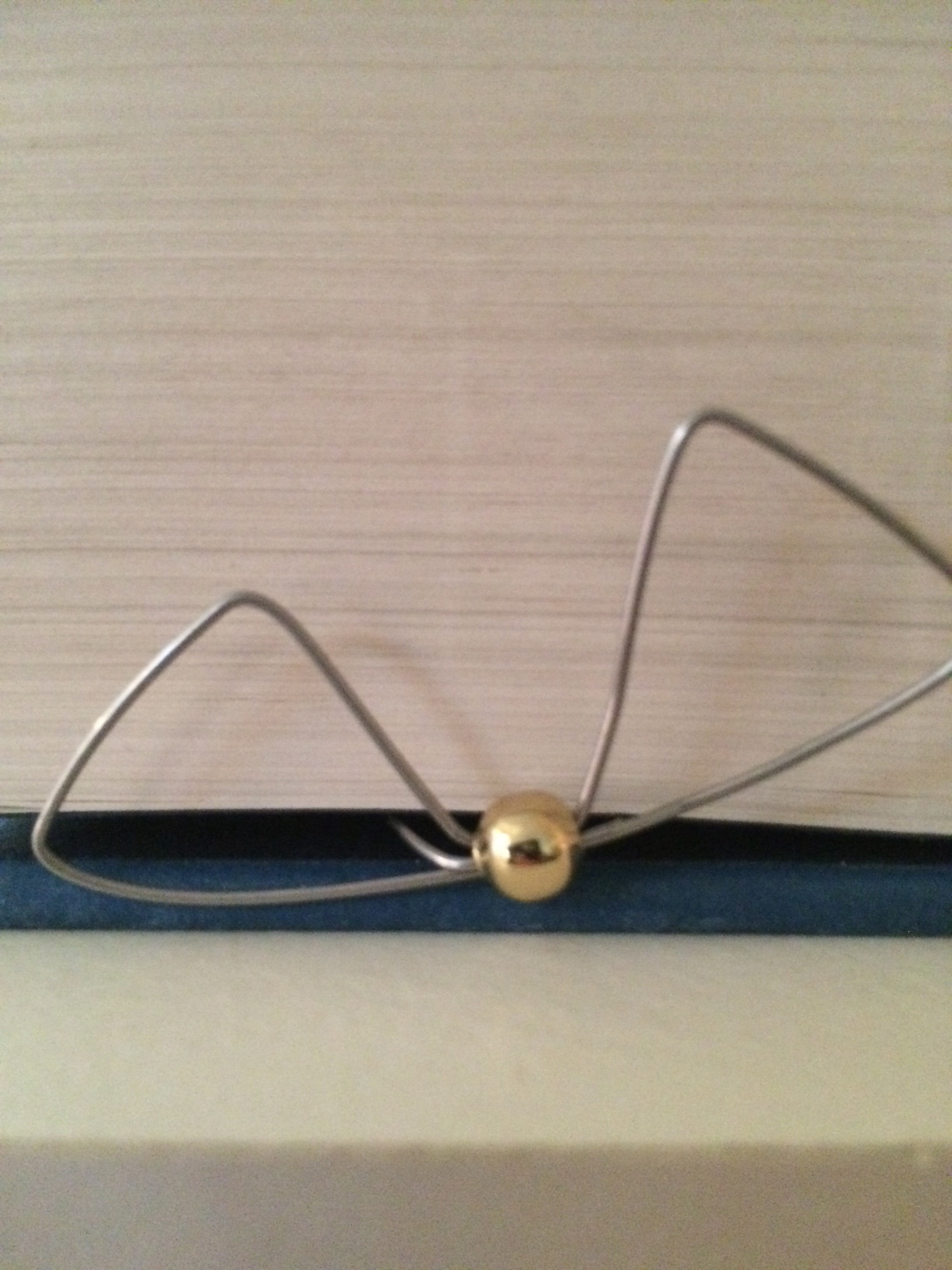 Picture of DIY Harry Potter Golden Snitch Page Marker