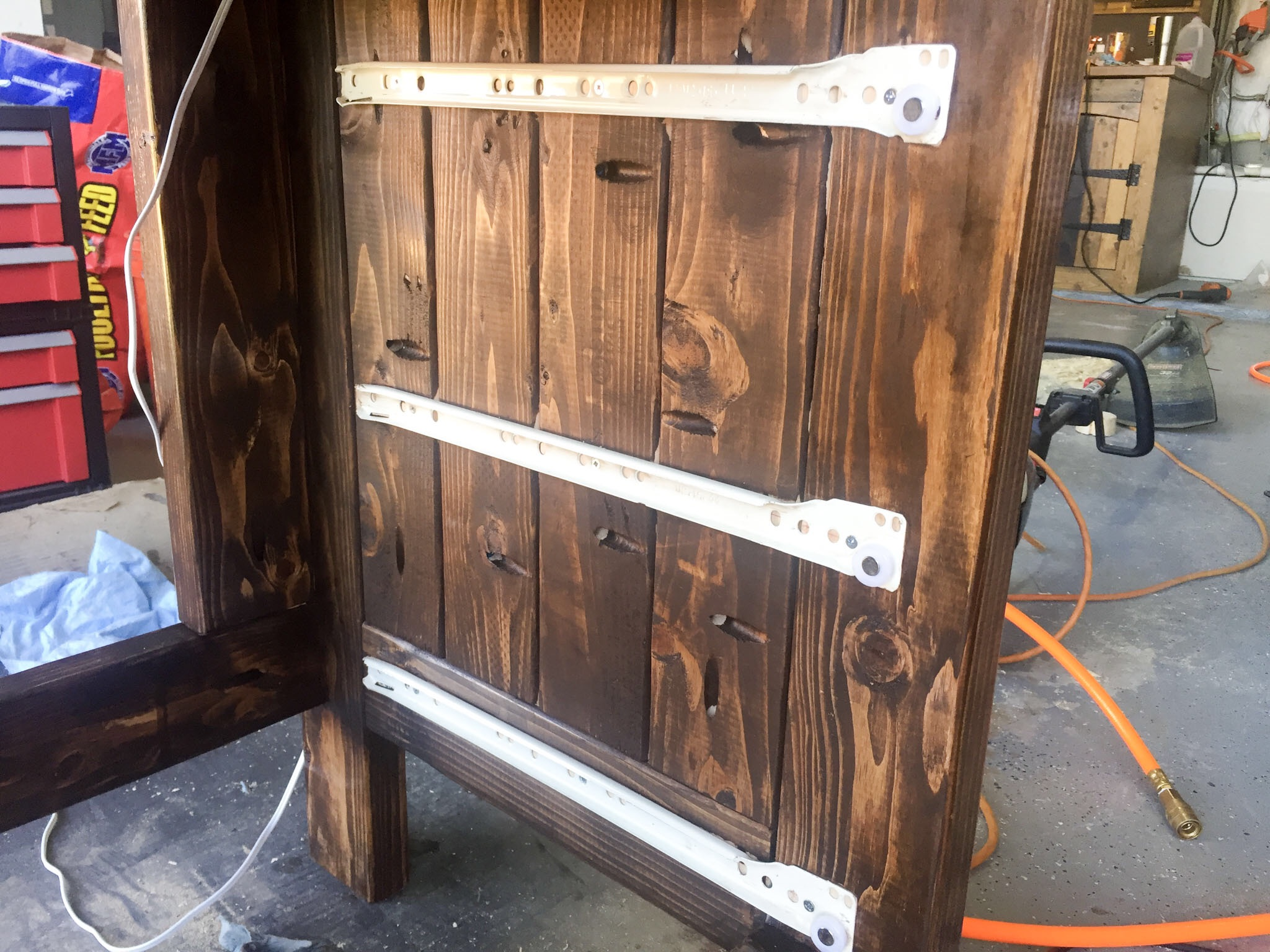 Picture of Fit Drawer Slides to Inside of Cabinet