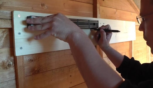 Mark Out and Attach the Magnetic Tool Rack