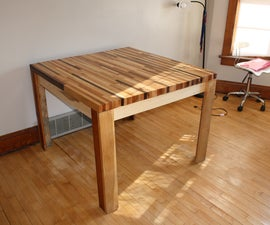 Butcher Block Hardwood Table