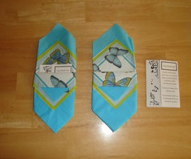 Classy Mad Lib Guest Book Cards in a Pretty Folded Napkin!