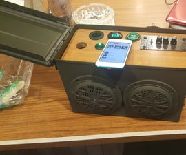 Ammo Can Bluetooth Speaker Power Supply