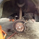 Changing brakes on a Honda CRV