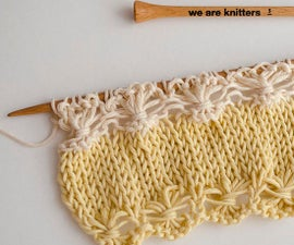 How to Knit a Line of Flowers