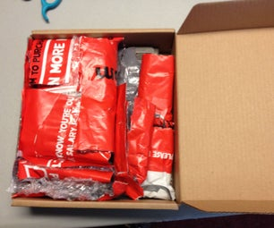Stuff a Package With Reused Packing Materials