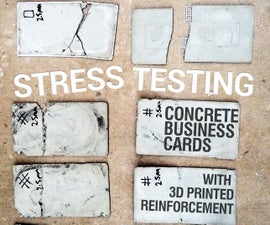 '3D Printed' Reinforced Concrete Business Cards