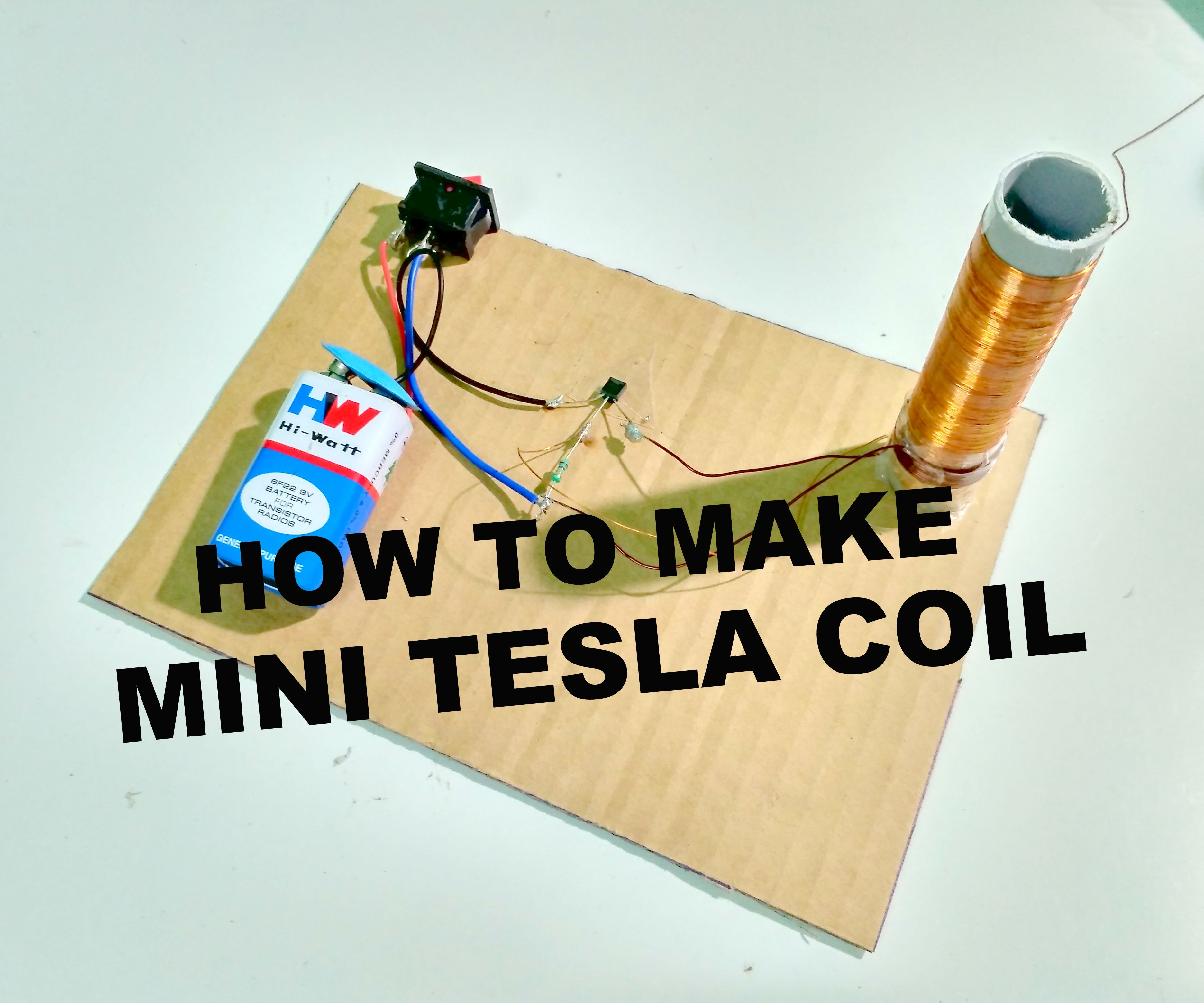 How to Make a Miniature Tesla Coil: 3 Steps (with Pictures)