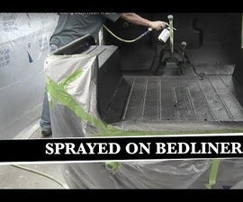 How to Apply Sprayed on Bedliner Inside of Jeep