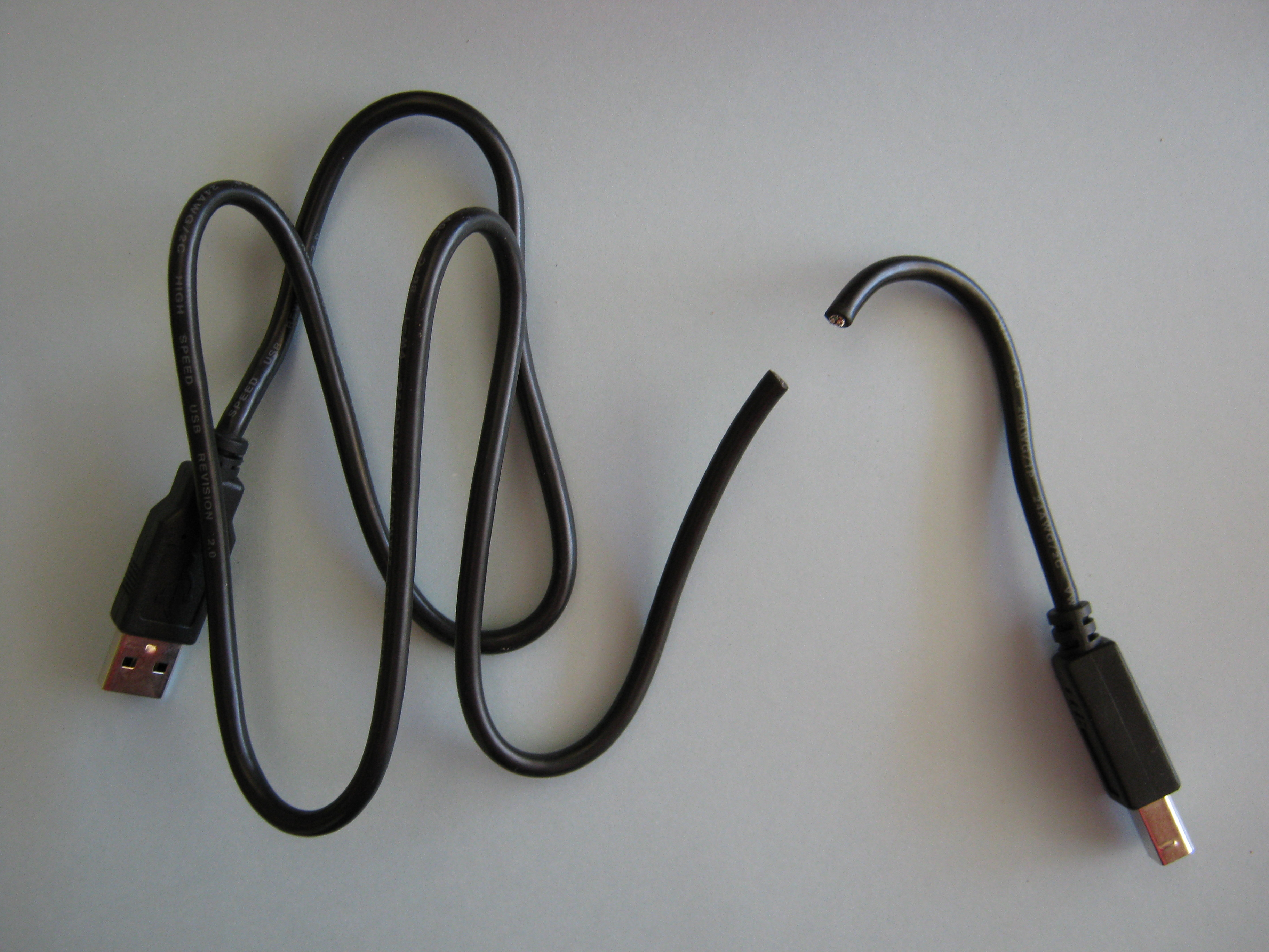 Picture of Prepare the USB Cable and Attach the LED