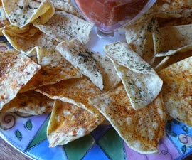 Herb-Infused Gourmet Tortilla Chips