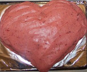 Dessert Recipe: Delicious Strawberry Heart Cake
