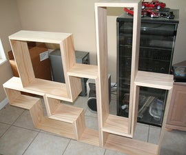Build a Tetris DVD (or book) shelf