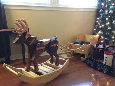 Reindeer and Present Sleigh