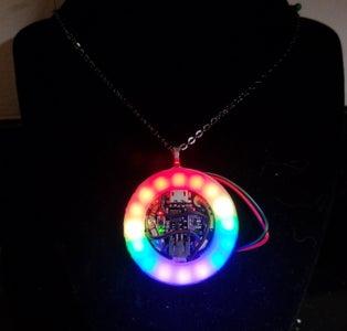 Neopixel LGBT Pride Necklace