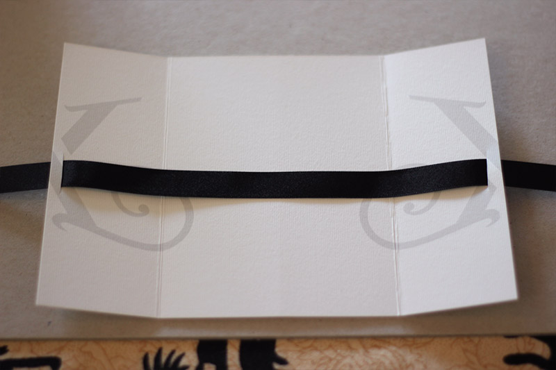 Picture of …then Back Out the Other Side. Make Sure the Ribbon Is Centred.