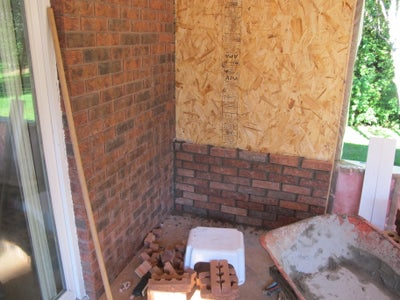 Brick Wall and Hearth (optional)