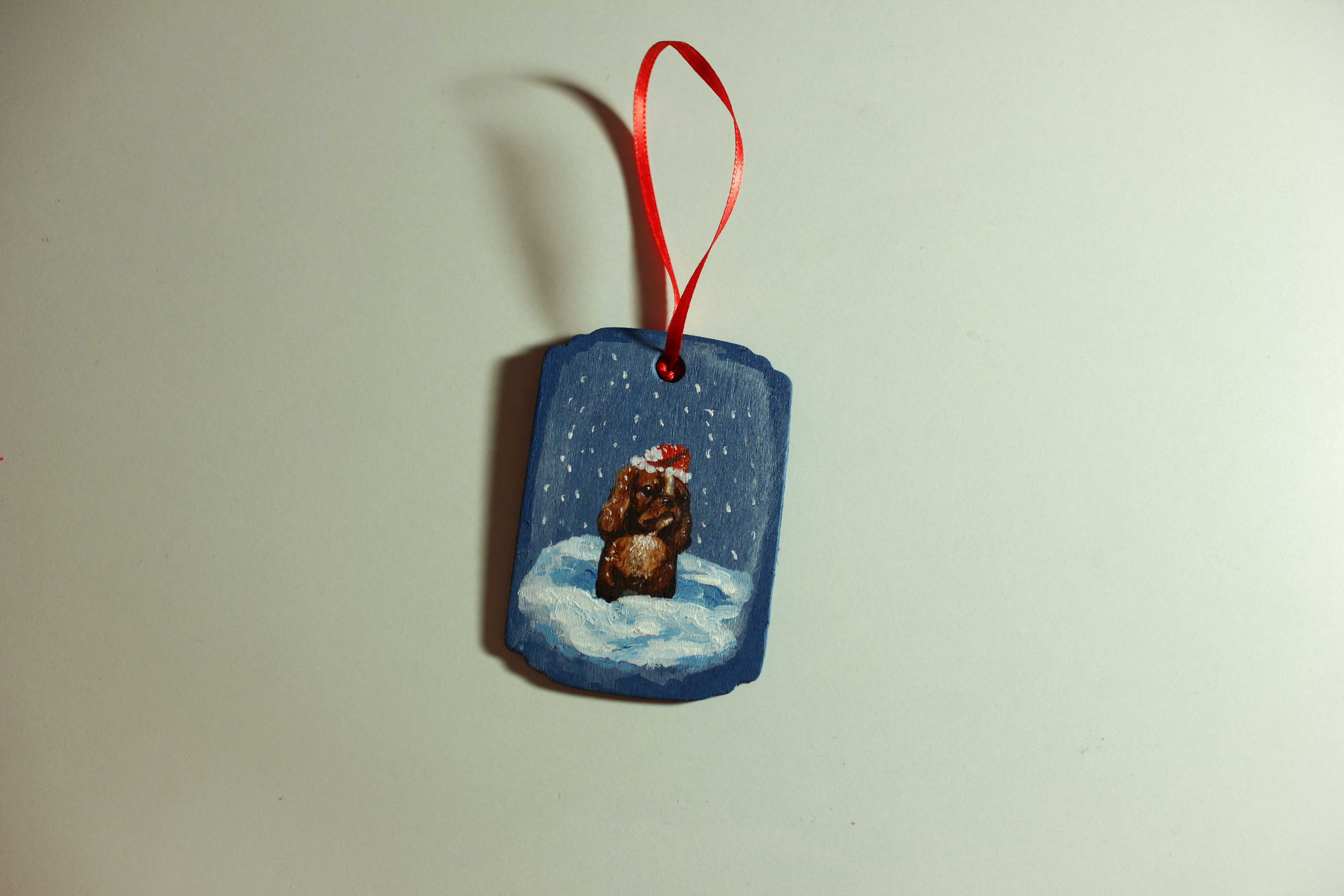 Picture of Painted Wooden Christmas Ornaments