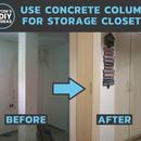 Use Concrete Column for Storage Closets