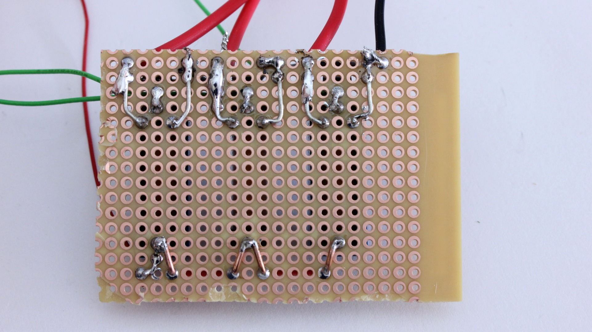 Picture of Solder the Relay Circuit Onto a Piece of Perf Board