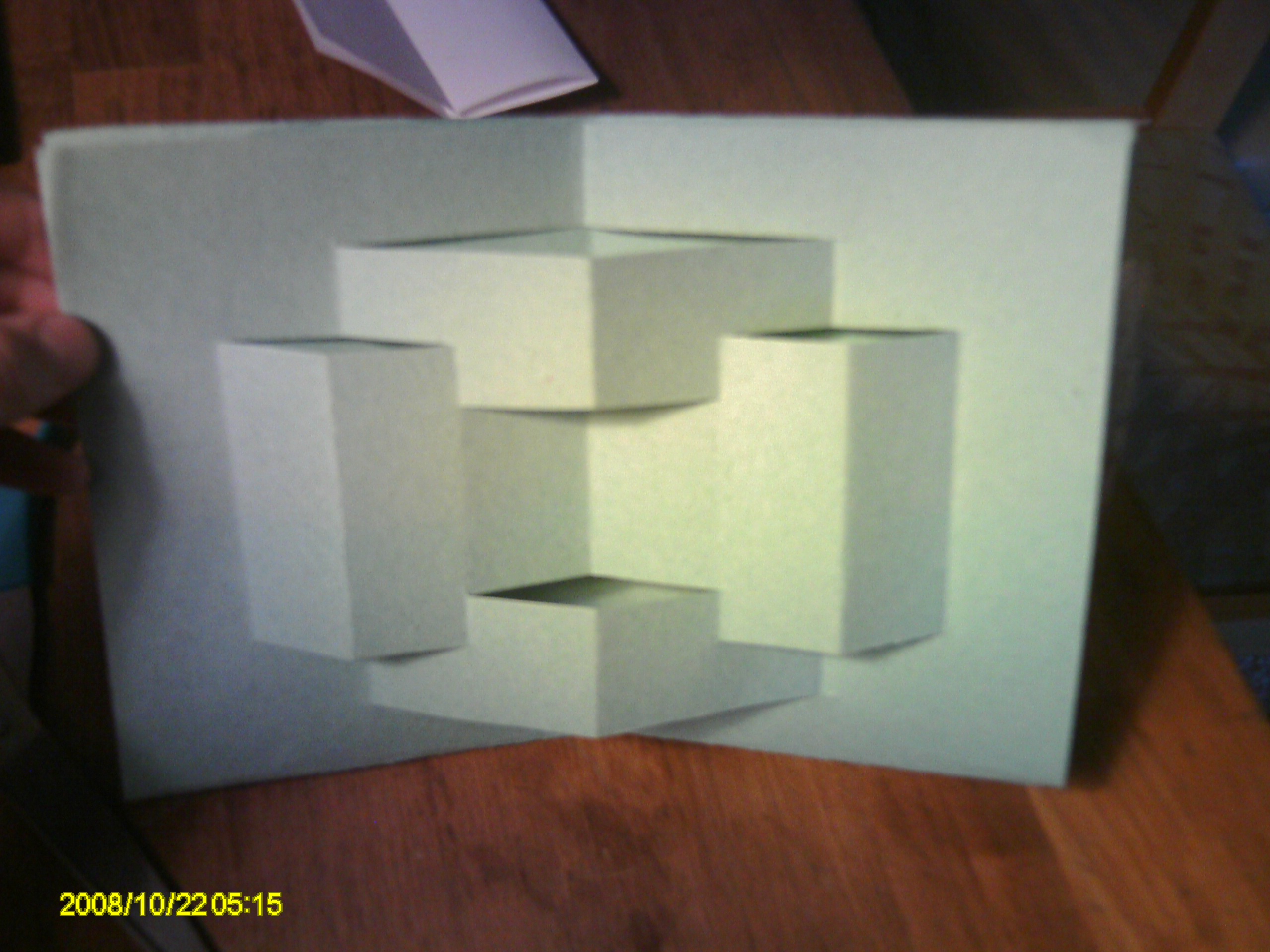 Picture of Easy Paper Geometric Card