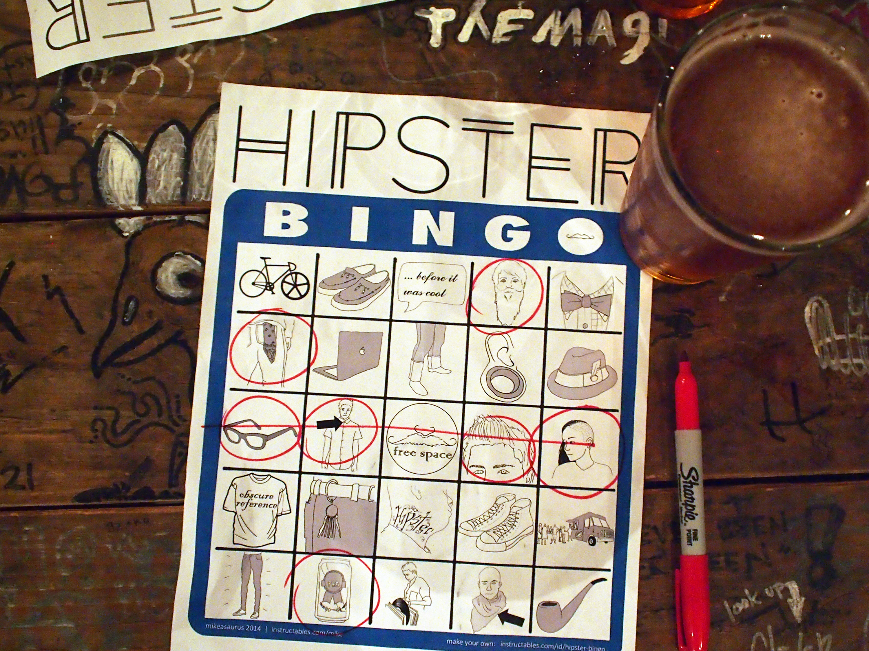 Picture of Hipster Bingo