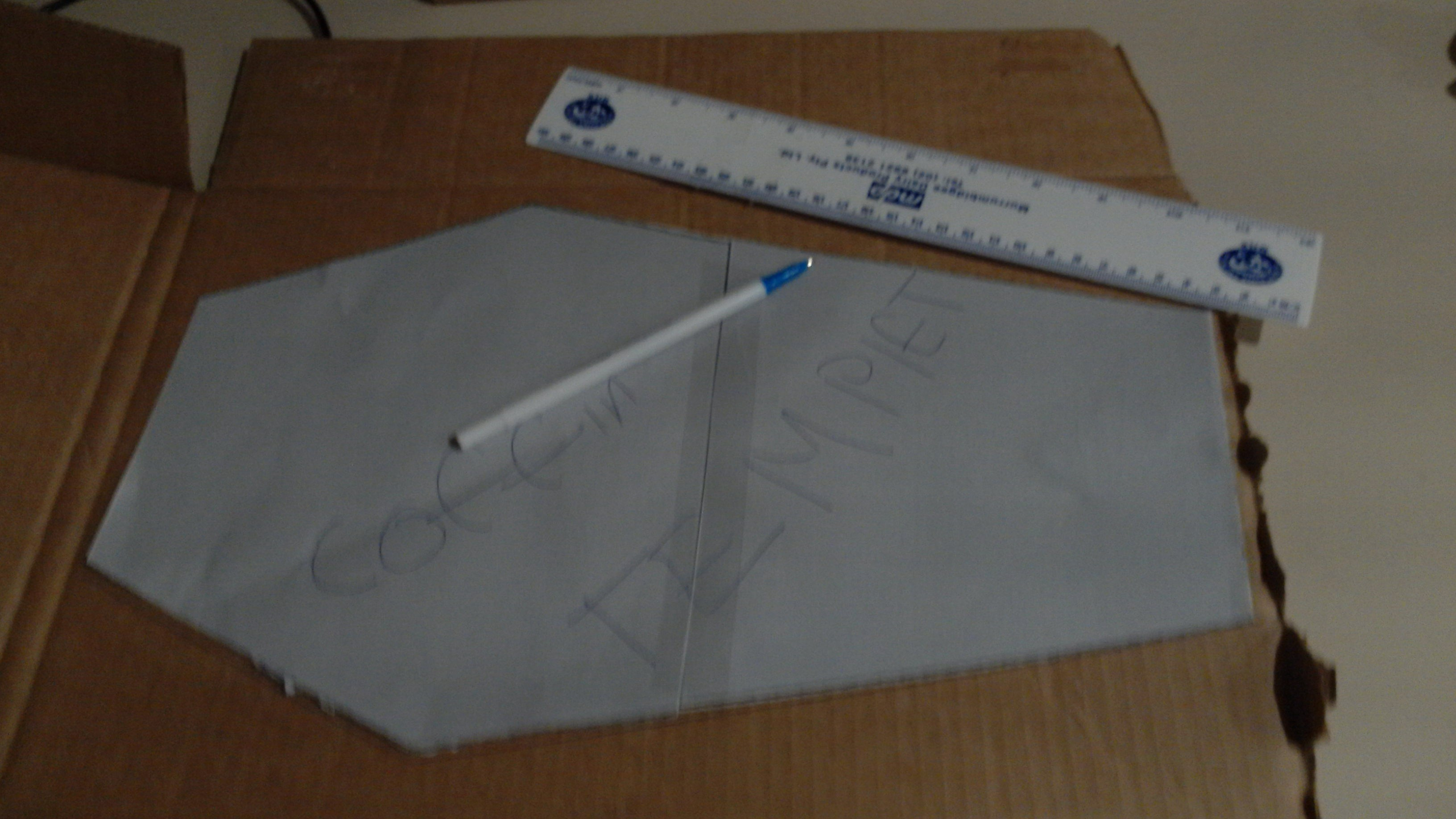 Picture of  Trace the Template on to the Cardboard