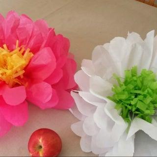Easy Tissue Paper Flowers