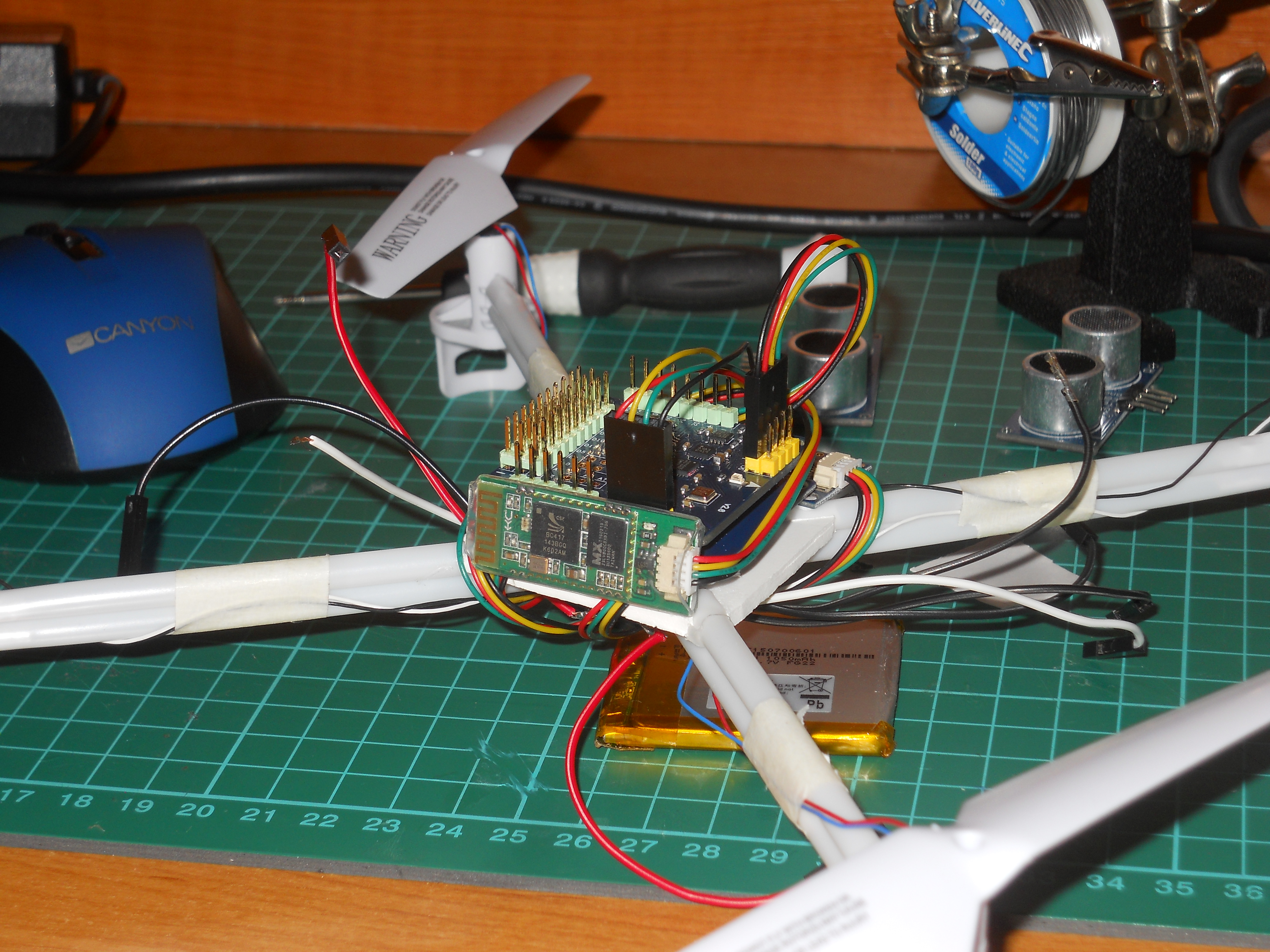 Picture of Putting the Circuit on the Frame