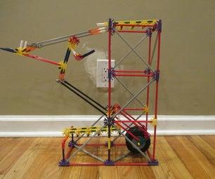 Inverted Dropper Arm- a K'nex Ball Machine Element
