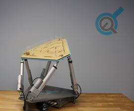 Six Axis Platform Using Linear Actuators (Stewart Platform)