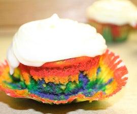 lemon rainbow cupcakes!