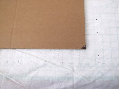 Cut a Piece of Muslin Fabric Larger Than Your Template