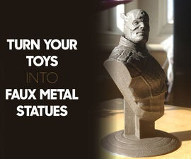 Turn Your Toys Into Faux Metal Statues