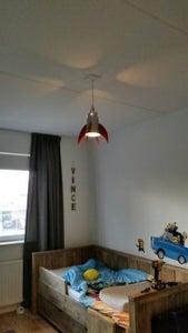 Hanging the Rocket Lamp