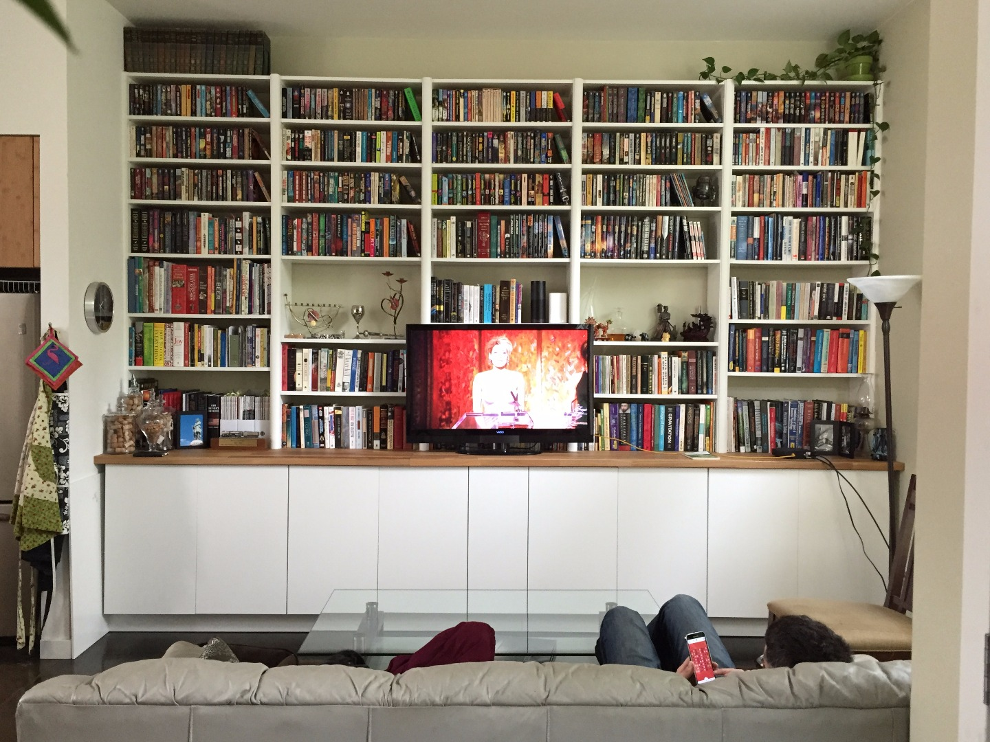Picture of IKEA Hack: Built-in Cabinets and Bookshelves