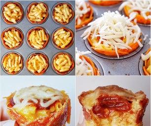Mac 'n' Cheese Pizza Cups