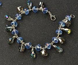 DIY Project on Making a Blue Crystal Bead Bracelet