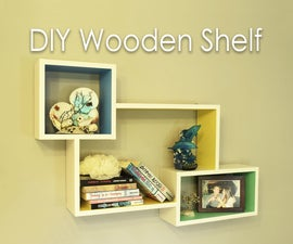 DIY Colorful Rectangular Wooden Wall Shelf
