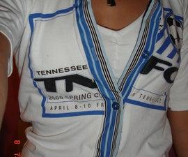 T-Shirt into a Button-Up
