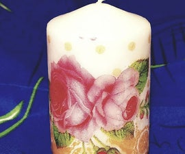 Flower Themed Candle