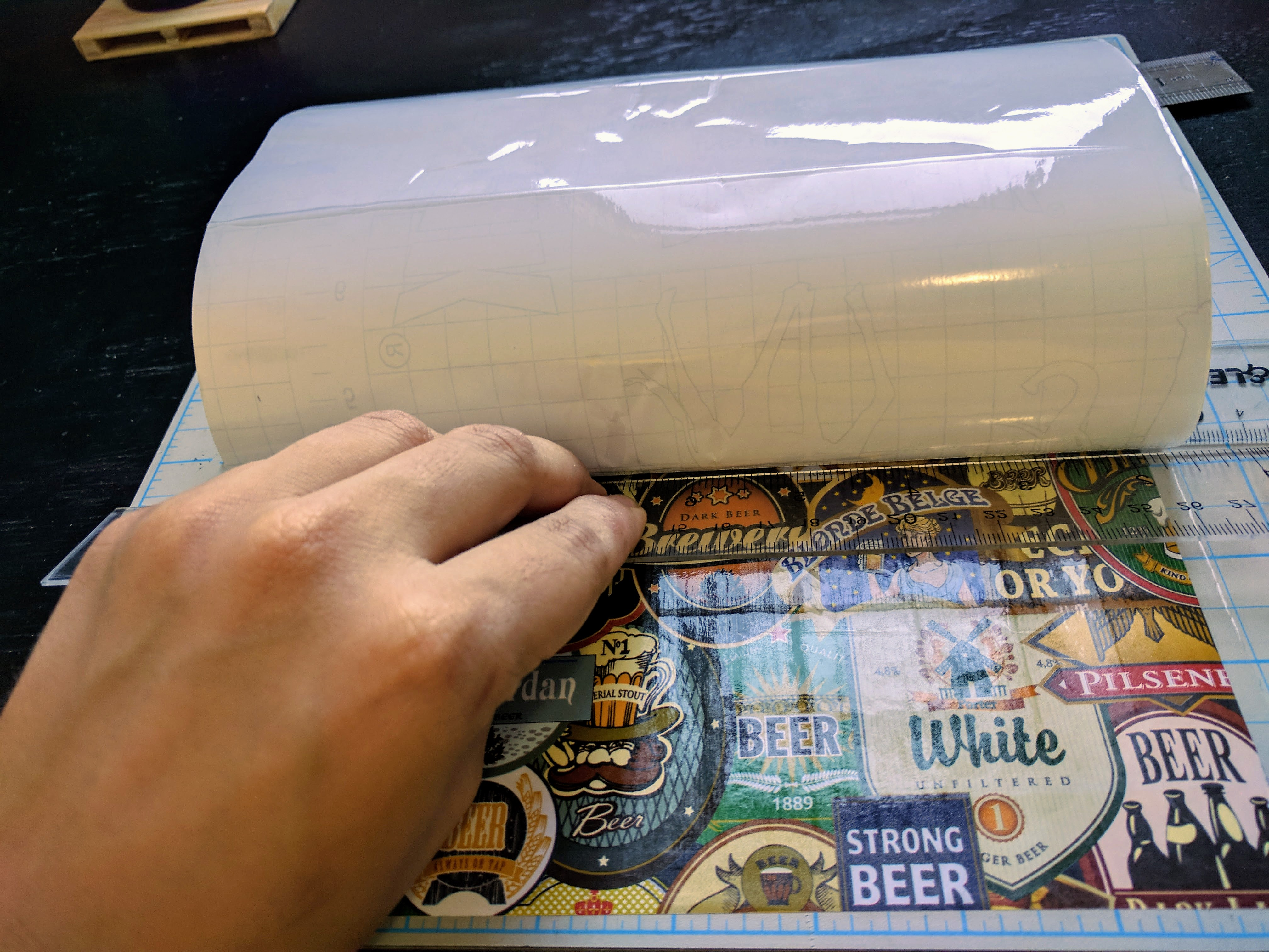 Picture of Wrap the Paper With Contact Paper (Optional)