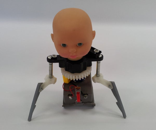Creepy Mechanical Baby (made From Broken Toys)