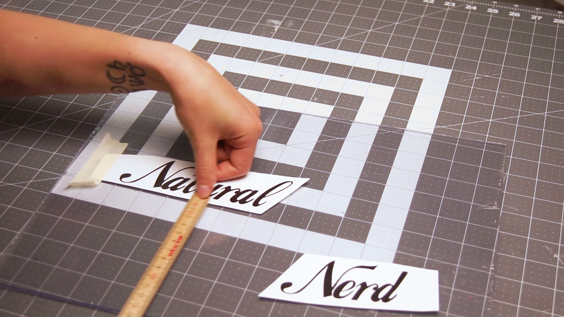 Picture of Taping on the Letters