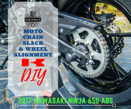 DIY - Motorcycle Chain Tension Adjustment & Rear Wheel Alignment