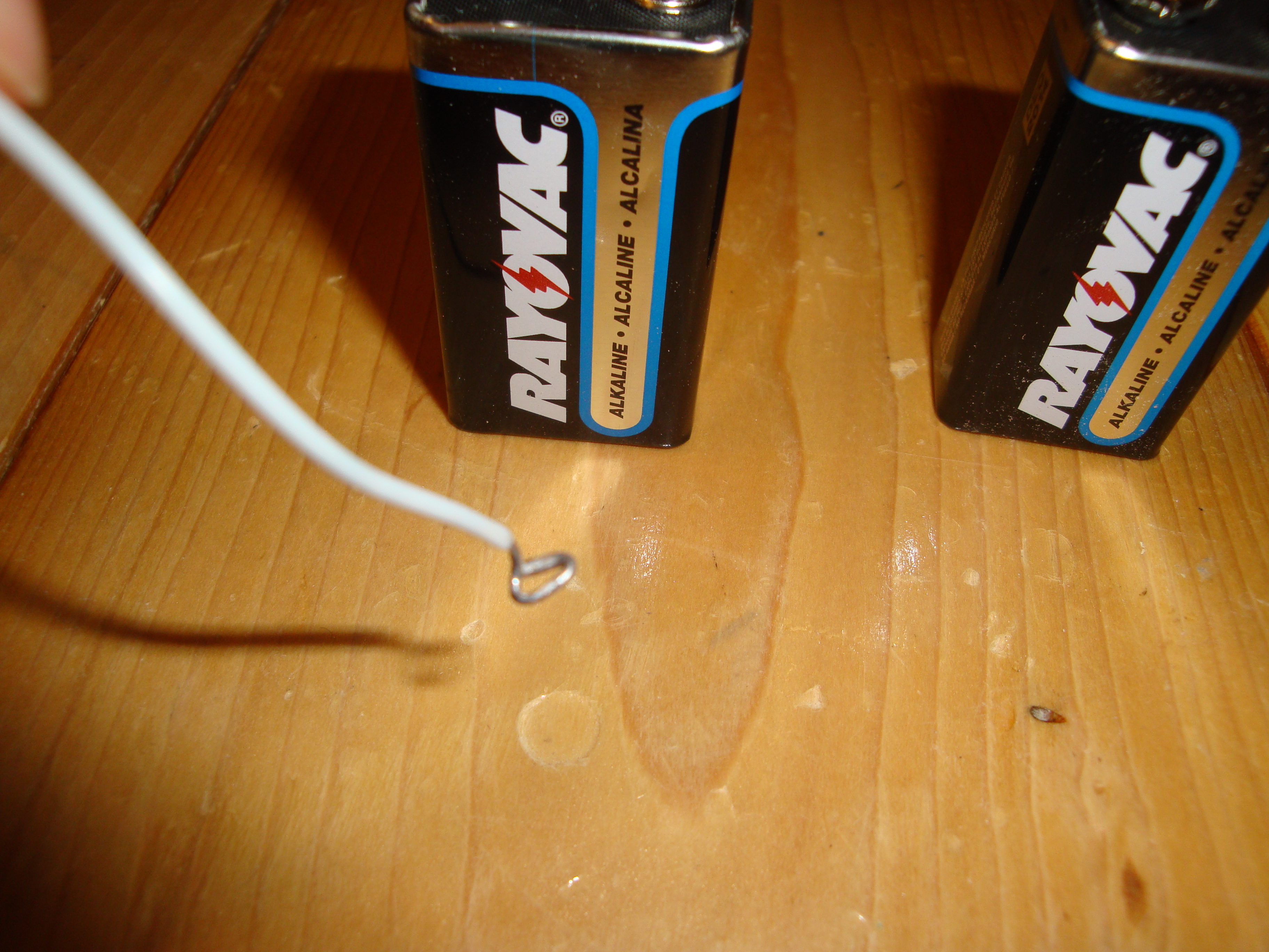 Picture of Attach Your Wire to Your Batteries