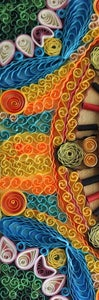 Glue the Quilled Shapes